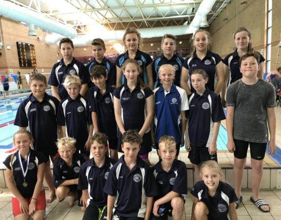 Some of the swimmers who took part in the Nifty 50s gala
