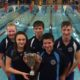 Great Yarmouth Club captains and vice-captains accepting the Crusader cup.